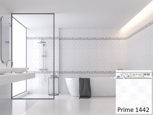 Với không gian phòng tắm, bạn có thể lựa chọn gạch ốp tường 30x45 Prime 1442 màu sáng.