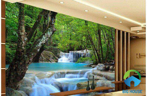 tranh gạch ốp tường phòng khách ấn tượng