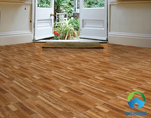 cách lát gạch nền nhà đẹp cho gạch giả gỗ