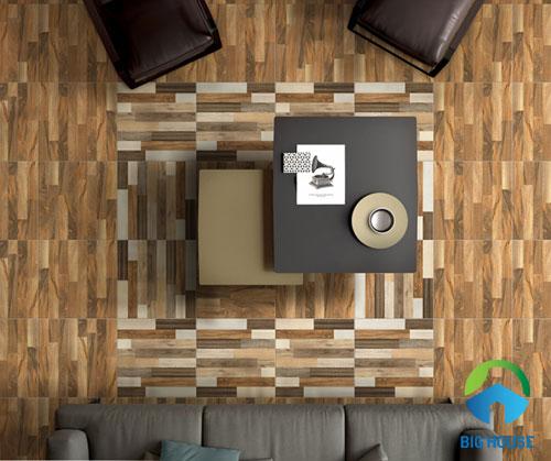 cách lát gạch nền nhà vân gỗ