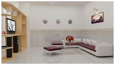 30 Mẫu Gạch ốp chân tường phòng khách Đẹp – Giá tốt 2020