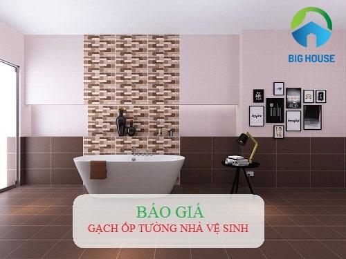 Top 3 mẫu gạch ốp tường nhà vệ sinh Đẹp, Giá chiết khấu cực lớn
