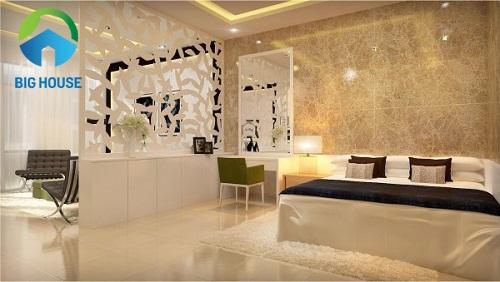 giá gạch ốp tường phòng ngủ