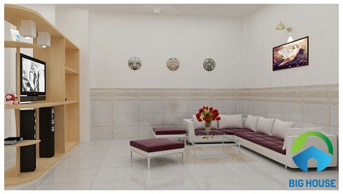 mẫu gạch ốp chân tường phòng khách đẹp