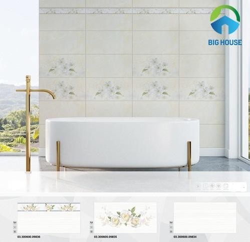 mẫu gạch ốp tường nhà tắm prime gần gũi thiên nhiên