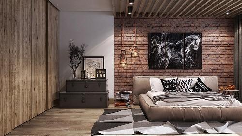 mẫu gạch ốp tường phòng ngủ độc đáo