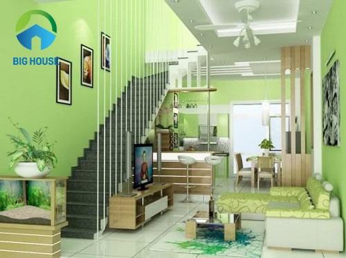 mẫu thiết kế cầu thang đẹp cho nhà ống