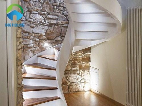 thiết kế cầu thang cho nhà ống