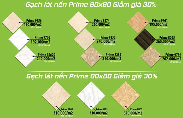 Bảng báo giá gạch lát nền Prime 60x60 chiết khấu lớn