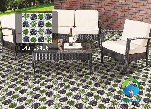 Mẫu gạch sân vườn giả cỏ chất lượng cao
