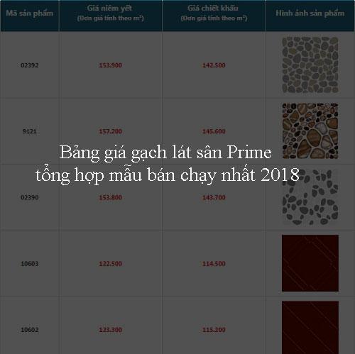 Bảng giá gạch lát sân Prime Chi tiết – Tổng hợp mẫu bán chạy nhất 2018
