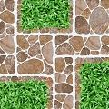 Mẫu gạch giả cỏ lát sân vườn ấn tượng nhất