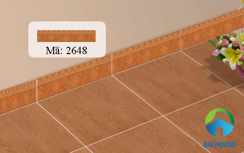 gạch ốp chân tường giả gỗ