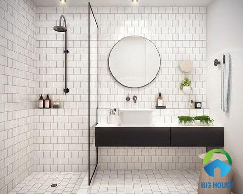 gạch ốp phòng tắm nhỏ