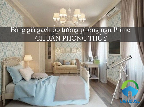 Bảng giá gạch ốp tường phòng ngủ Prime mẫu đẹp, chuẩn phong thủy