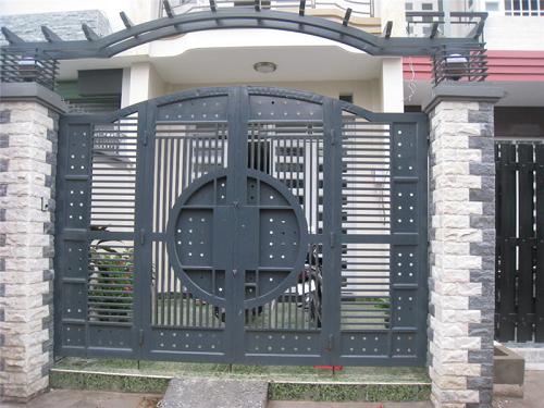 mẫu gạch ốp trụ cổng nhà giả đá sang trọng