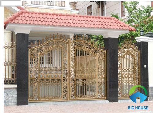 mẫu gạch ốp cổng nhà ấn tượng