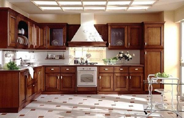 Gạch ceramic 40x40 ứng dụng trong khu vực phòng bếp