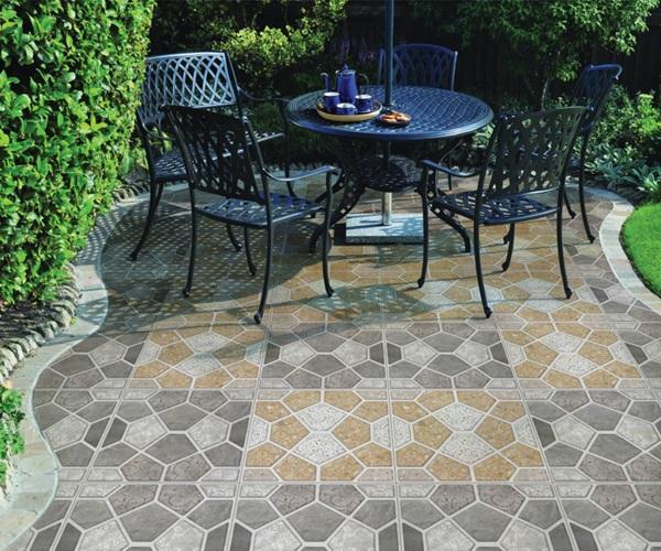 Top mẫu gạch lát nền Chống trơn cho phòng khách, bếp, sân vườn