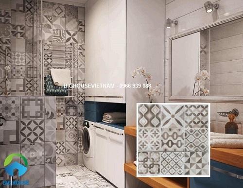 Các loại gạch bông lát nền nhà tắm đẹp