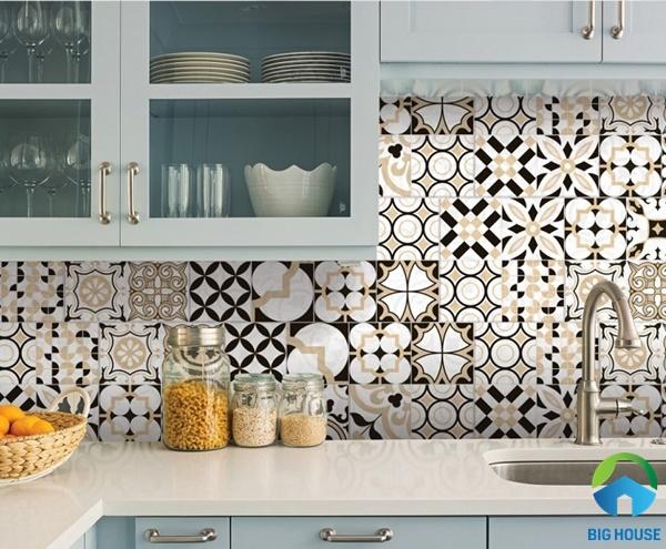 Gạch bông ốp bếp là lựa chọn tối ưu để mang đến sự khác biệt cho không gian