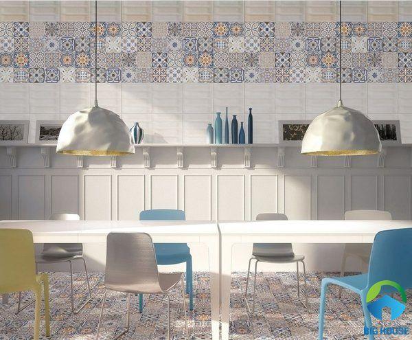 Gạch bông trang trí nhà bếp tạo sự cuốn hút riêng