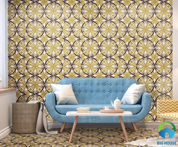Mẫu gạch bông ốp phòng khách mang dến sự khác biệt độc đáo