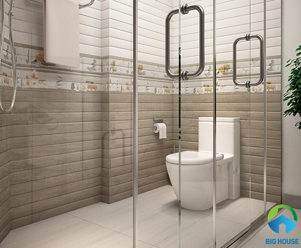 Mẫu gạch ốp trang trí đẹp nhà vệ sinh sang trọng