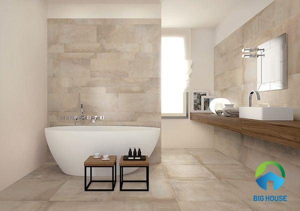 cách phối màu gạch nhà vệ sinh