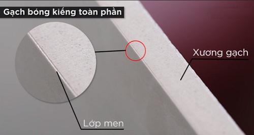 Dòng gạch bóng kiếng toàn phần có lớp men mỏng