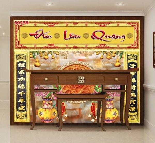 Với phòng thờ, gia chủ cũng có thể lựa chọn gạch 3D Đức Lưu Quang