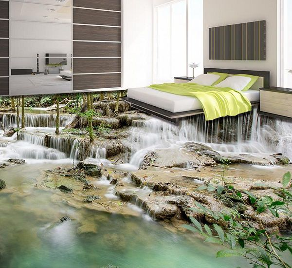 Gạch 3D dạng thác nước độc đáo