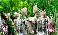 Cảnh thác nước trong rừng trúc độc đáo, đẹp mắt