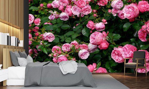 Tranh gạch ốp tường 3D mẫu hoa