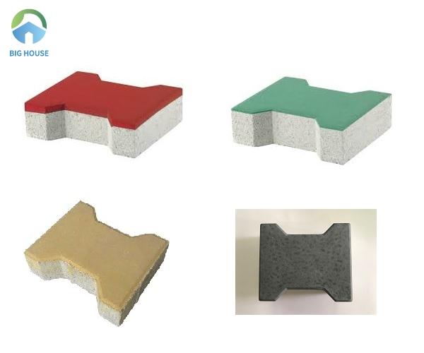 Đa dạng về màu sắc với mẫu gạch block chữ I lát vỉa hè