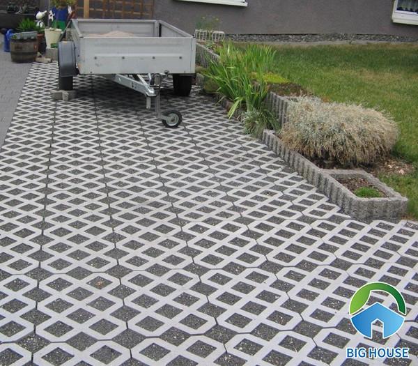 Gạch block trồng cỏ 8 lỗ