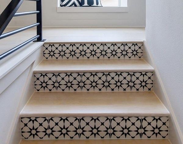 gạch bông cổ điển lát cầu thang