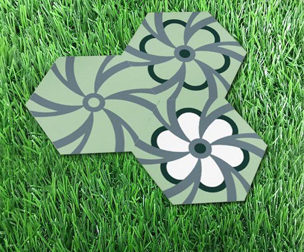 Gạch bông lục giác Đồng Tâm họa tiết hoa
