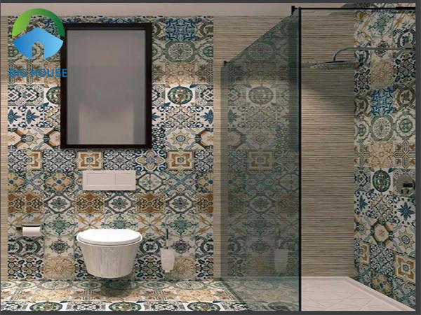 Gạch bông ốp tường trang trí phòng khách, nhà bếp,… Đẹp 2021