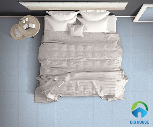gạch lát nền ceramic 400x400 cho phòng ngủ nhẹ nhàng, tinh tế