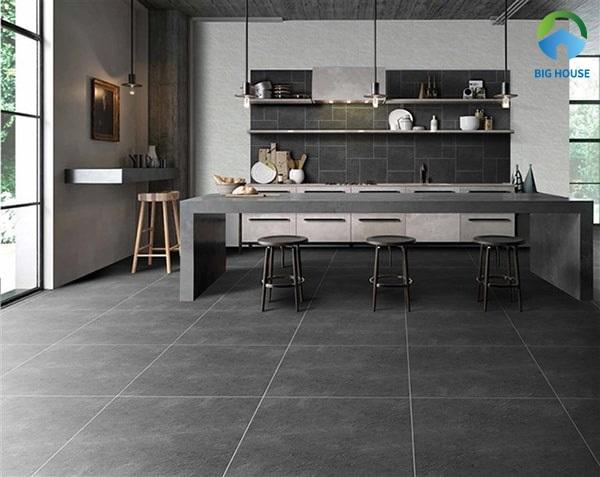 Ứng dụng gạch ceramic 60x60 cho không gian bếp thật thu hút