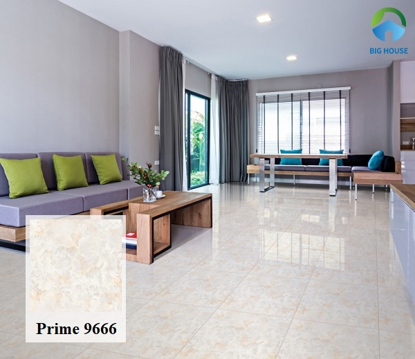 Ngoài ra, bạn có thể tham khảo mẫu gạch Prime 9666 xương gạch ceramic. Đây cũng là một sự gợi ý lý tưởng để lát nền phòng khách