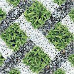 Gạch giả cỏ mang lại không gian đầy tính tự nhiên