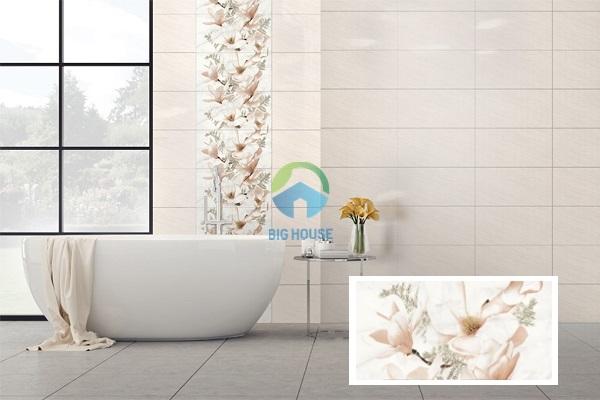 gạch điểm 30x60 họa tiết hoa