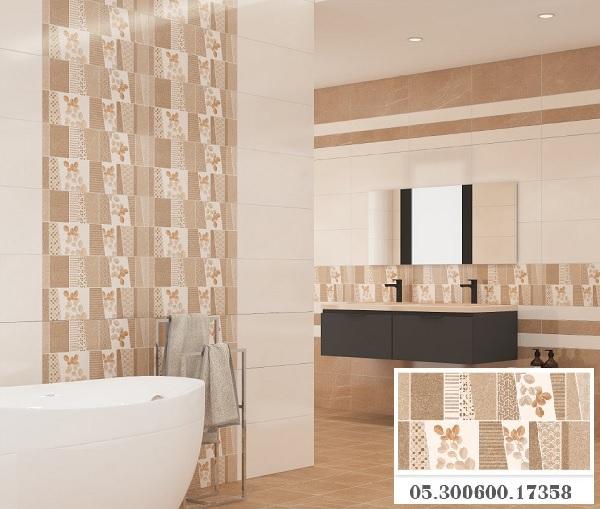 Gạch điểm lát tường Prime 17358 mang đến cho không gian phòng tắm vẻ đẹp nổi bật, ấn tượng