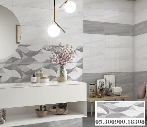 Mẫu gạch ốp tường Prime 17358 màu xám hiện đại, họa tiết đơn giản mà cuốn hút không ngờ