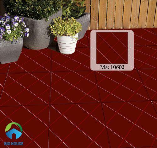 mẫu gạch đỏ lát sân chống trơn