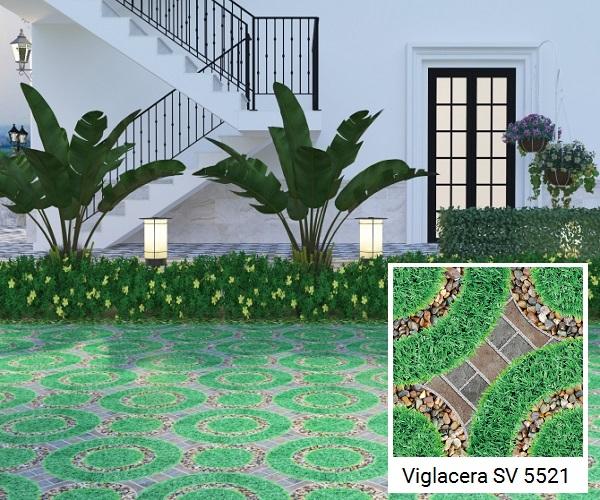 gạch giả cỏ lát sân vườn viglacera