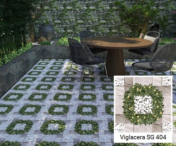 gạch giả cỏ lát vườn viglacera