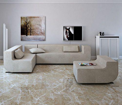 Gạch lát nền vân đá sang trọng cho phòng khách